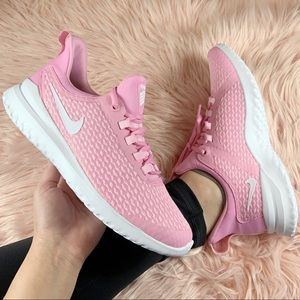 New Nike Renew Rival Running Sneakers Pink/White